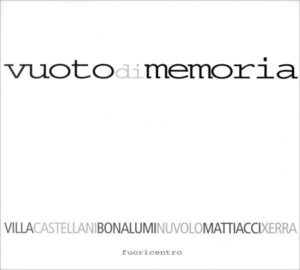 Vuoto di memoria - Copertina catalogo
