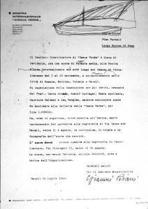 Pino Pascali - lettera