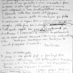 Pino Pascali - manoscritto